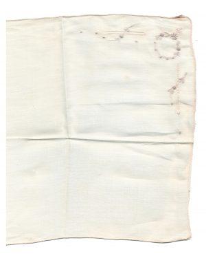 Vintage Ivory Paper Pack Linen Hankie 2