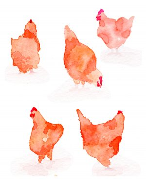 Vintage Farm Paper Pack Digital Ephemera Chickens