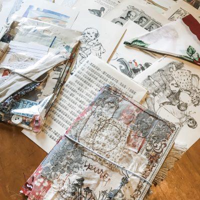 "Handmade Mixed Media Traveler's Notebook ""Pure"""